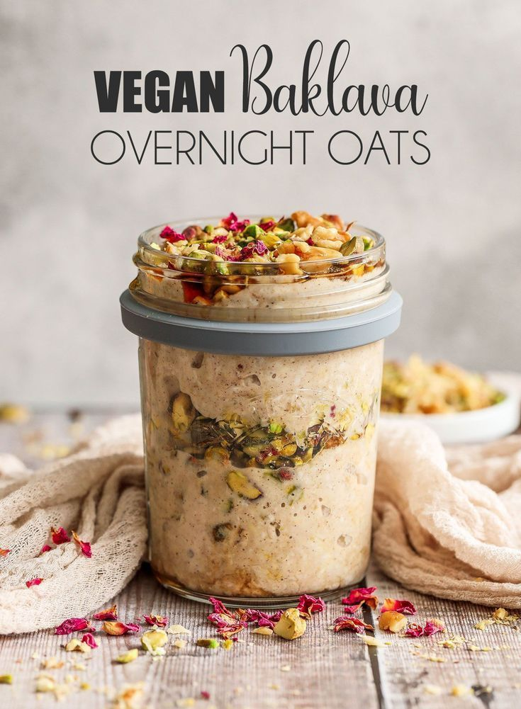 Vegan Baklava Overnight Oats - UK Health Blog - Nadia's Healthy Kitchen