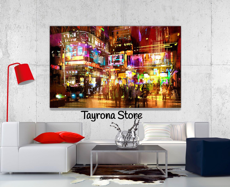 Cuadros decorativos pintura ciudad 01 tayronastore - Pintura comedor moderno ...