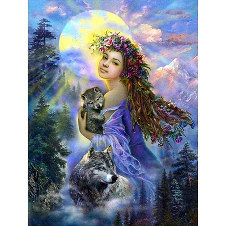 5D DIY Full Drill Diamond Painting Beauty Cross Stitch Embroidery Home Art