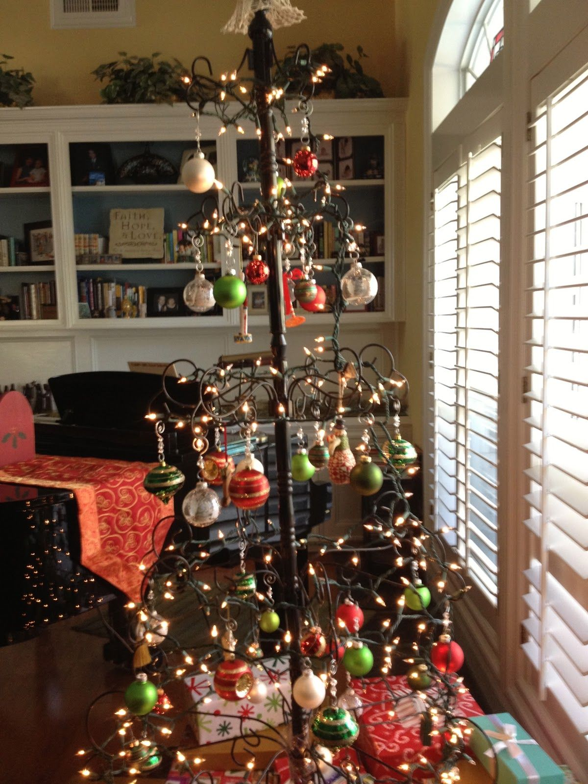 wrought iron christmas tree google search - Iron Christmas Tree