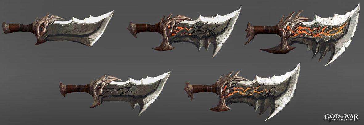 God Of War Ascension Concept Art Espadas Desenho Armas Desenho