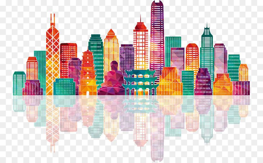 Hong Kong Skyline Stock Illustration Illustration Colorful City Building Silhouettes Png Is About Is Chicago Painting Building Silhouette Silhouette Painting