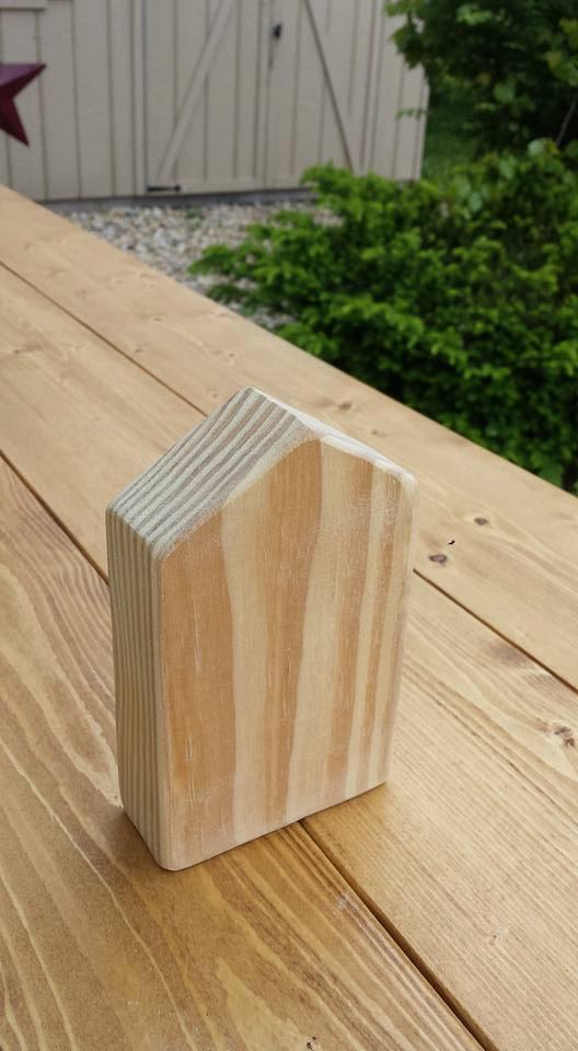 Fabulous Solid Wood Block House With Door Window 3 5X5 75 Craft Home Interior And Landscaping Mentranervesignezvosmurscom