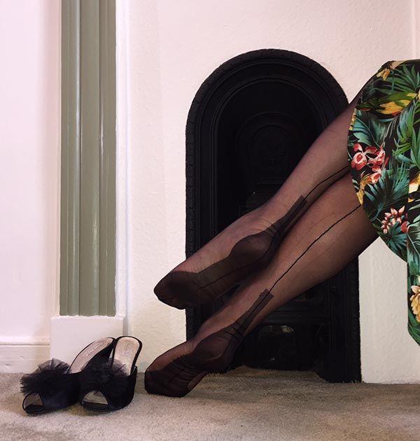Cuban Heel Fully Fashioned Nylon Stockings