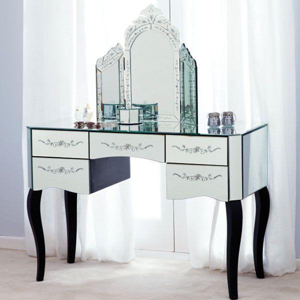 buy popular 65935 676bd Parisian Mirrored 5 Drawer Dressing Table | Things I love ...