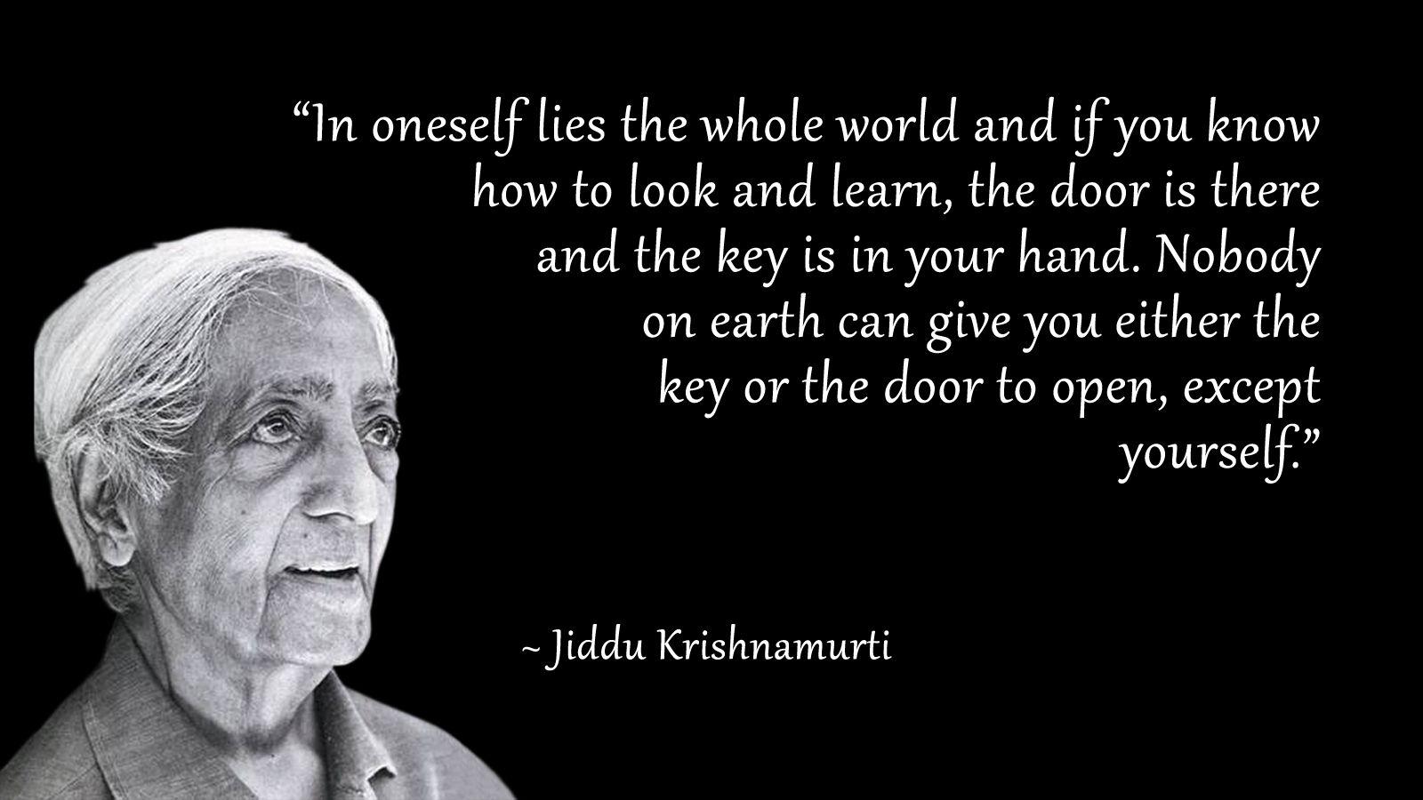 krishnamurti citater Jiddu Krishnamurti Quotes. QuotesGram | Quotes | Quotes, Jiddu  krishnamurti citater