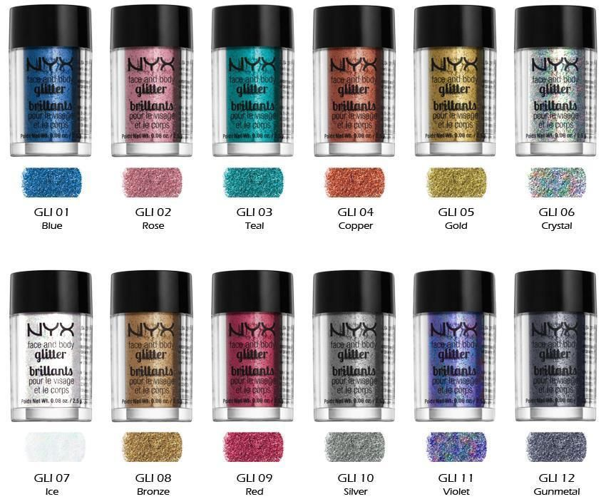 NYX Cosmetics Face and Body Glitter Color eBay Nyx