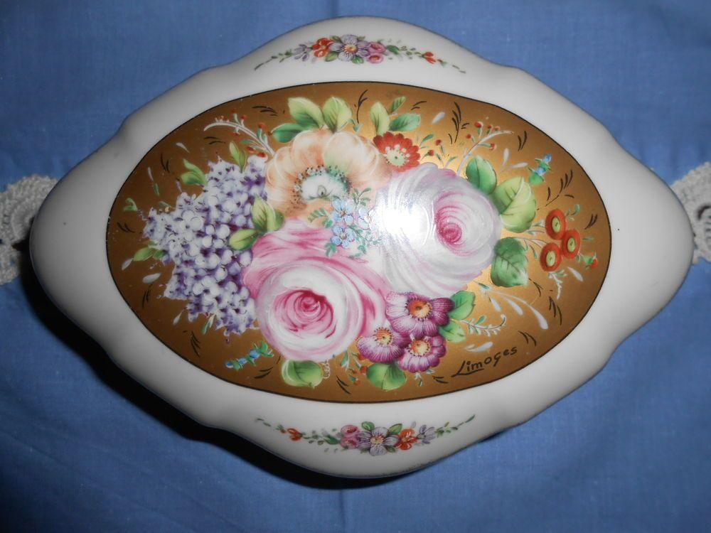 Ceramica Limoges Prezzi.Dettagli Su Portagioie Scatola Fine Porcellana Limoges