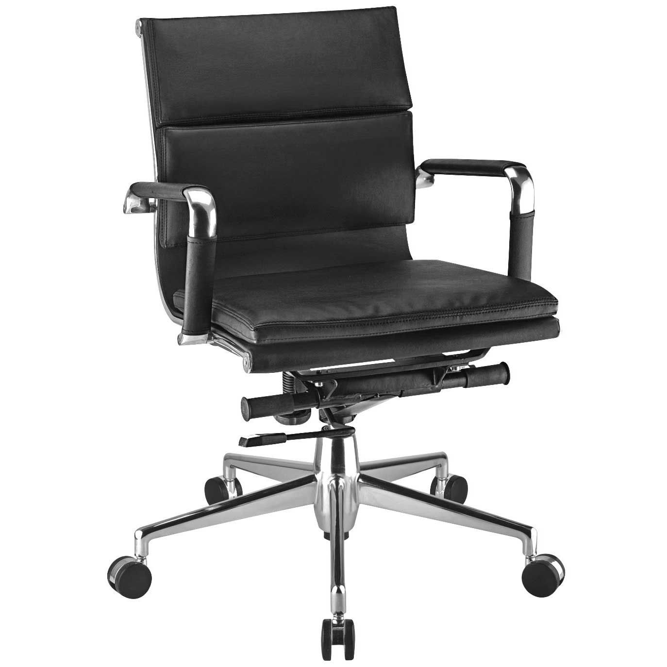 Eames metal swivel chair with arms for office swivel
