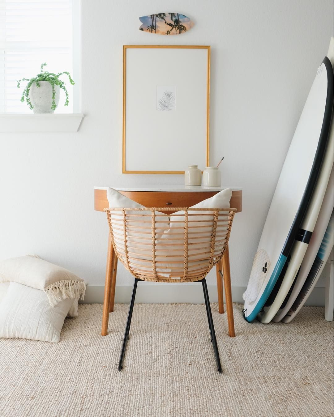 In The Spirit Of Keeping Things Interesting Around Here I M Sharing A Never Before Seen Space We Have A Th Wanderlust Wall Decor Surf Decor Home Office Decor