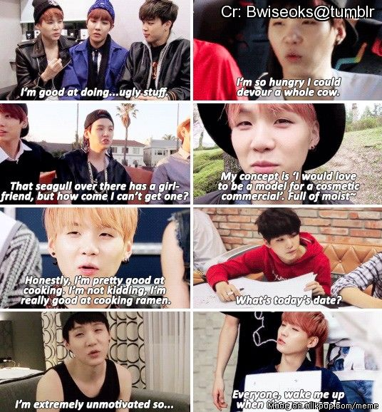 Shit Suga Says | Allkpop Meme Center~ I feel like suga just describes my life BTS