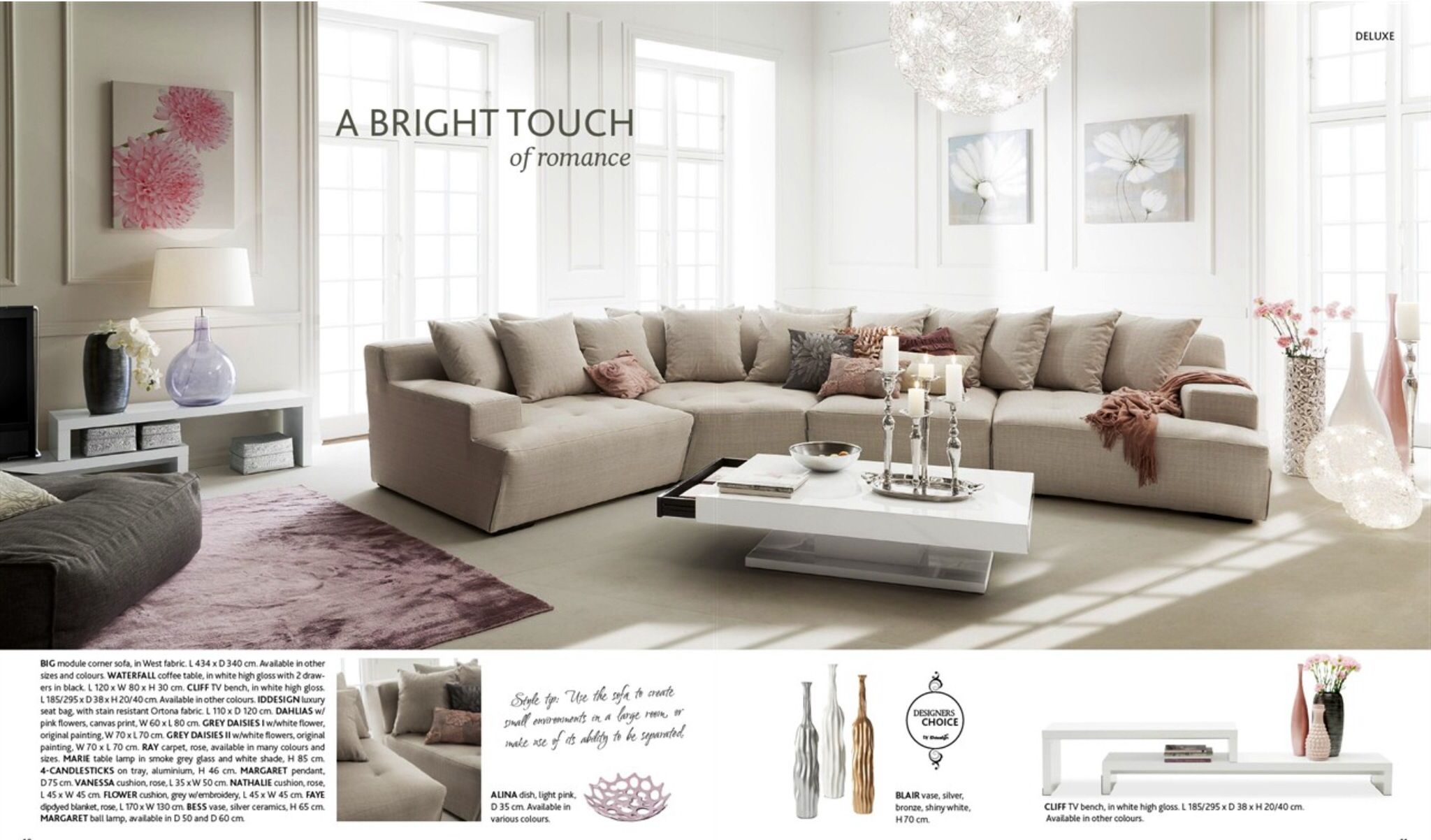 Style Tip Use The Sofa To Create Small Environments In A Large Room Or Make Of Its Ability Be Separated