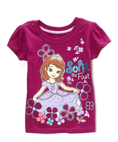 Look what I found on #zulily! Purple Sofia the First Tee - Toddler & Girls by Sofia the First #zulilyfinds