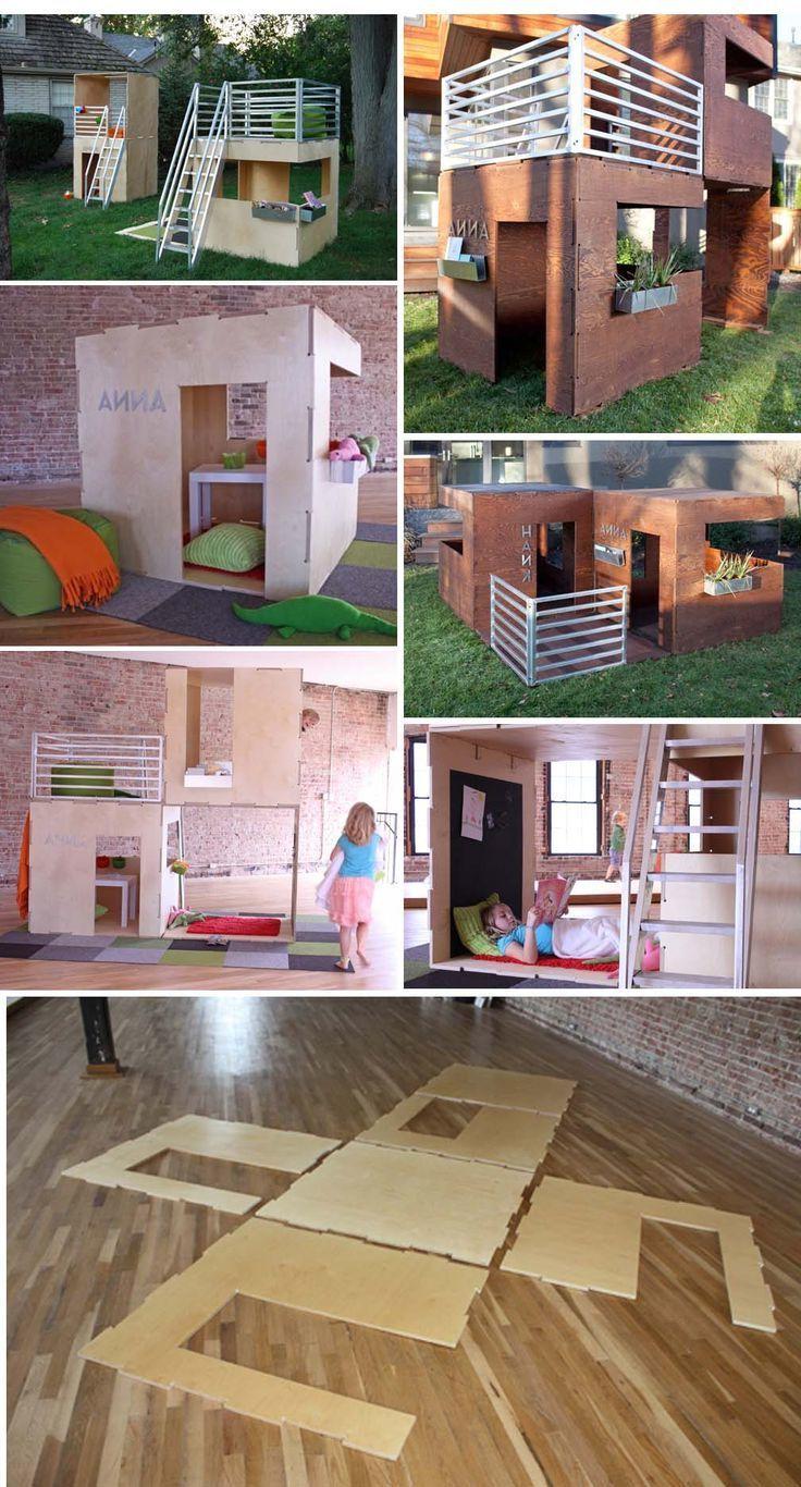 Spielhaus für den Garten selber bauen DIY Anleitung (mit