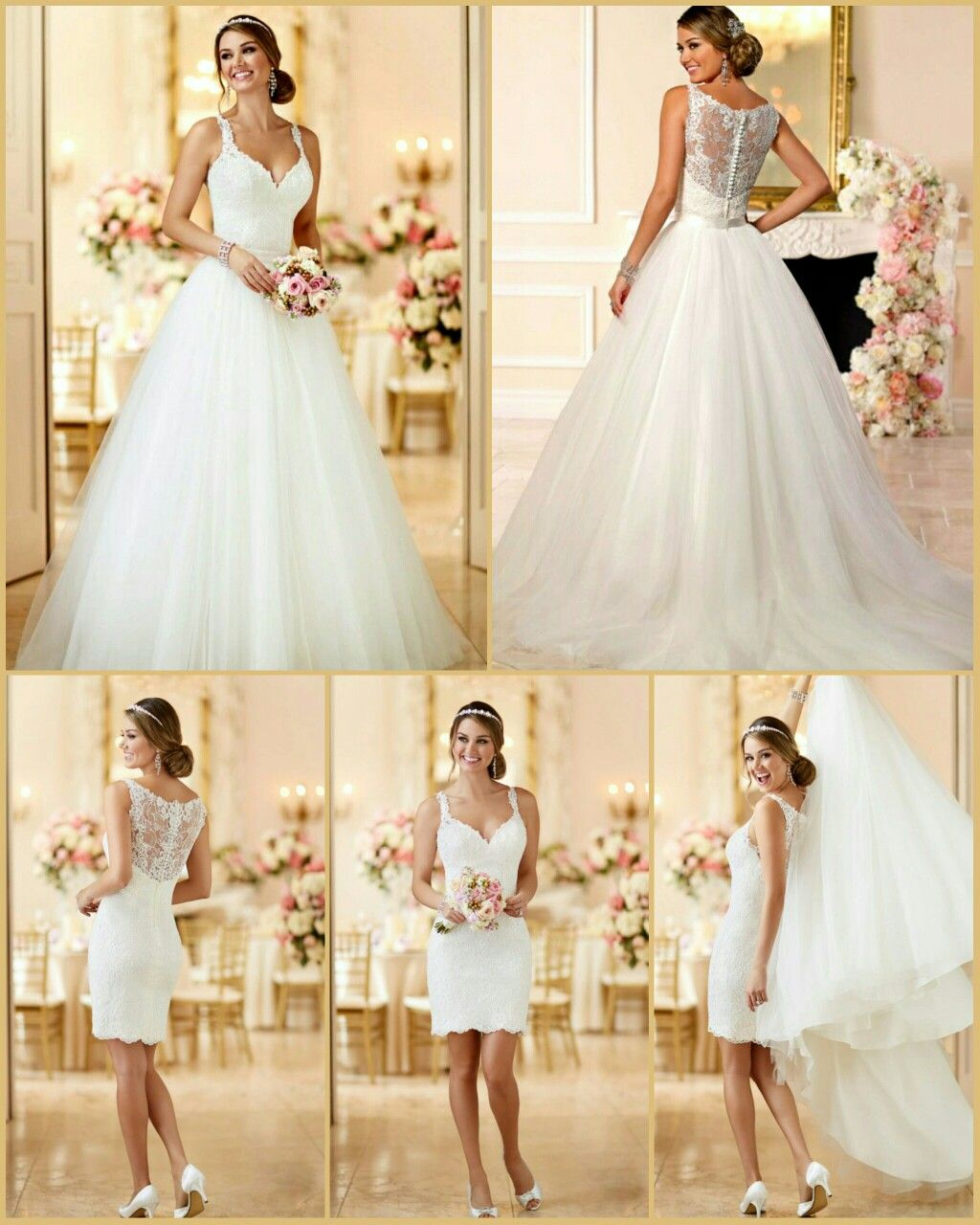 Stella York Bridal 6223 Convertible Wedding Gown Two Dresses In One For