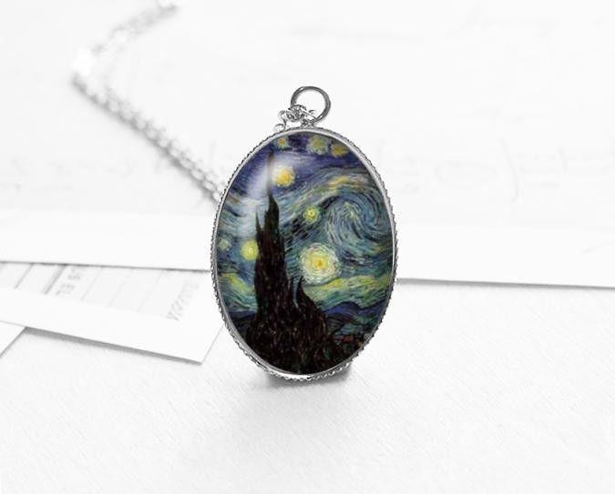Pendants – Van Gogh Starry Night Necklace, Gift Idea, N262 – a unique product by petiteVanilla on DaWanda