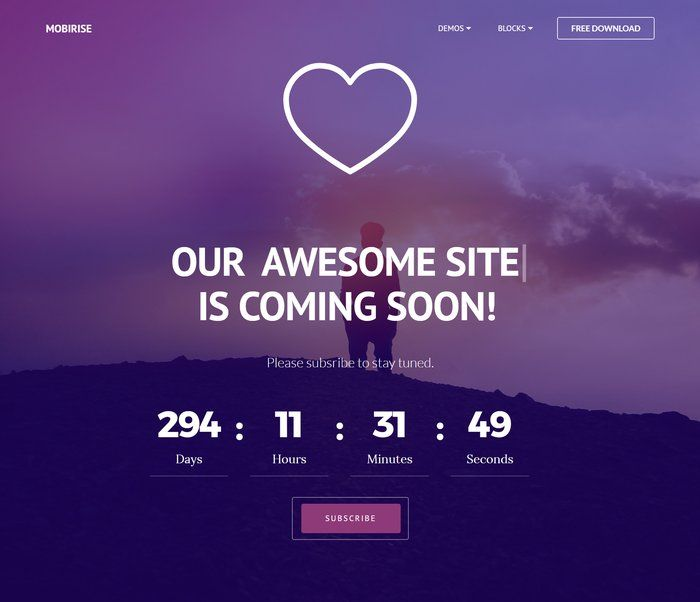 30 Free Html5 Website Under Construction Coming Soon Templates Templates Web Design Coming Soon