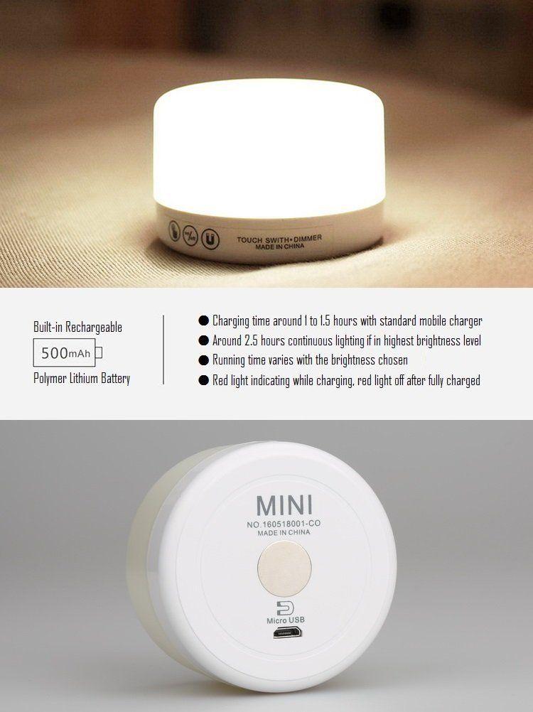 4er LED Nachtlicht Bewegungsmelder Magnethalterung Baby Licht Leuchte Set Lampe