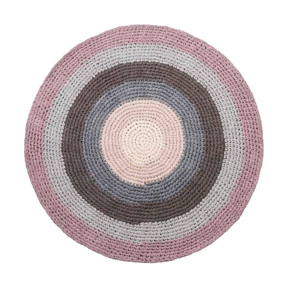 Sebra Hakel Teppich Pastell Lila Rund Teppich Kinderzimmer