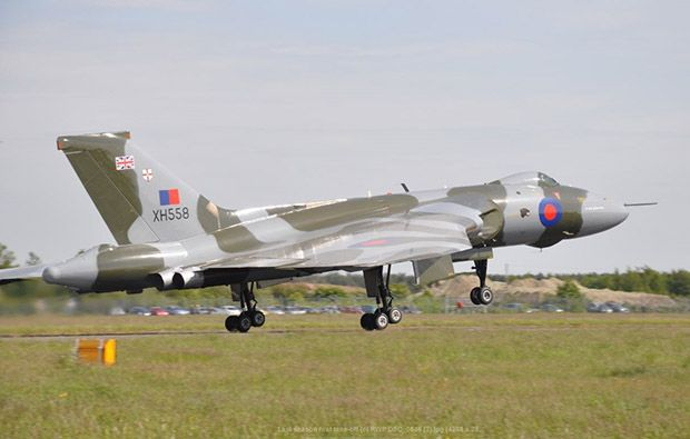 Vulcan to the Sky Trust's Avro Vulcan XH558 captured on her final season first take-off by Trust Chief Executive Robert Pleming.