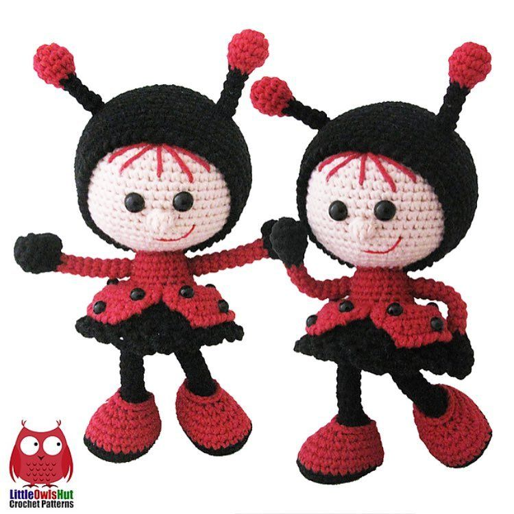 NEW crochet pattern. 146 Doll in a ladybug outfit. I hope you like our new addition to the Dolls family :-) -------------------------------------------------- Sign your LOH photos with #LittleOwlsHut tag and the best ones will be placed on our page. #crochet #pattern #crochetpattern #crochetlove #crocheting #crochetfun  #welovecrochet #crochetproject #crochetaddict #crochetfun #amigurumi #crochetersofinstagram #ilovecrochet #crochettoy #instacrochet #handcrafted #yarn #hakeln #yarnaddict…