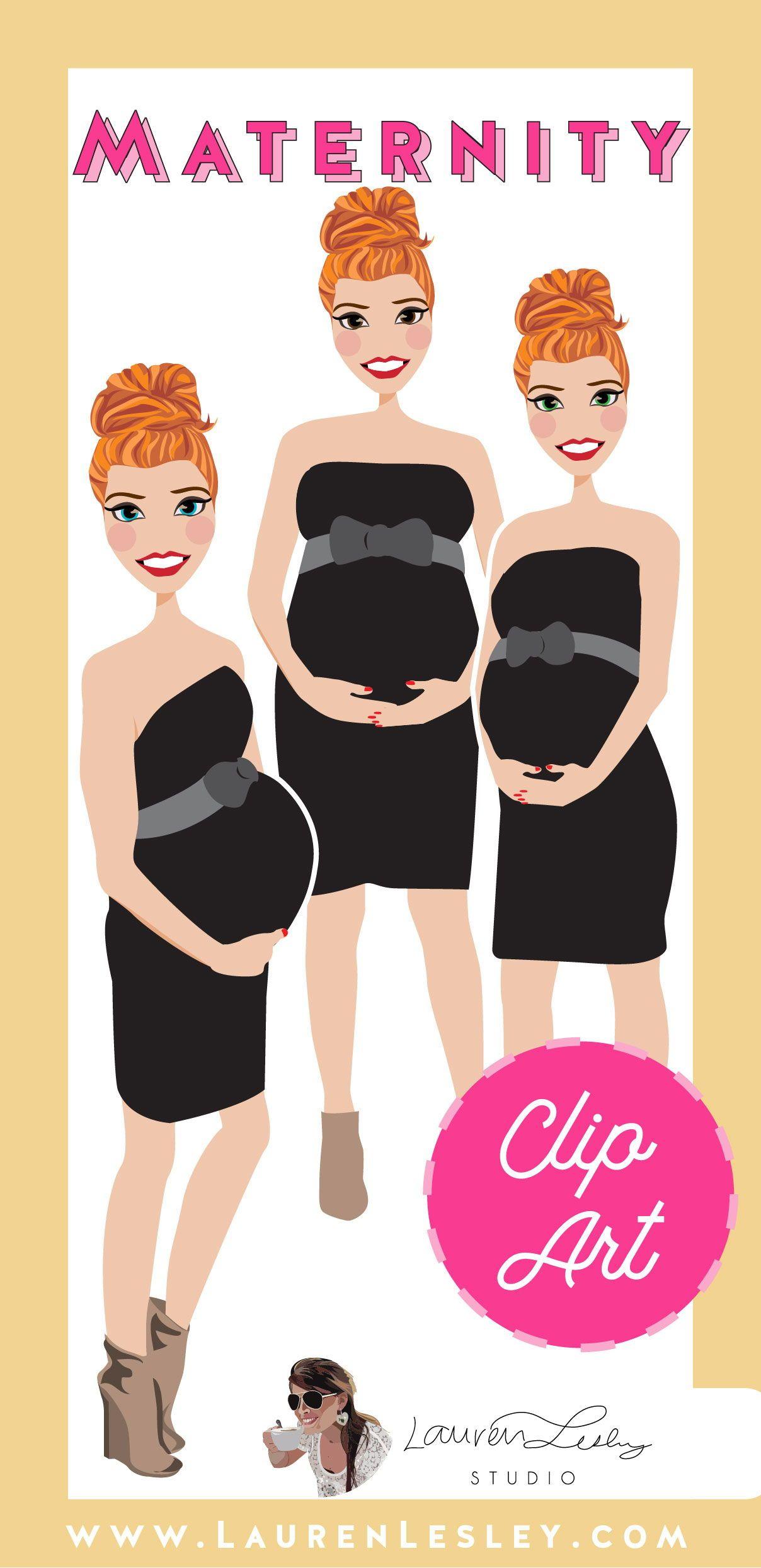 Maternity Clip Art Lola Clip art, Illustration art