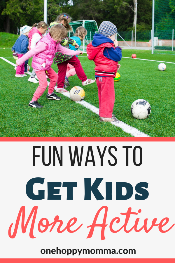 Exercise is a crucial part of a child's development and growth, but how can you get kids more active in fun easy ways that don't feel forced  | #kidsactivities #exercise #raisingkids #childdevelopment #parentingtips  #stayingactive #healthyliving via @onehoppymomma