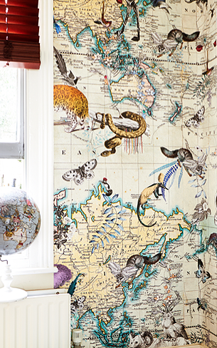 World map wildlife wallpaper kristjanaswilliams finleys room world map wildlife wallpaper gumiabroncs Gallery