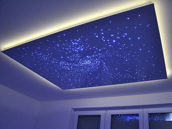 LED Kristall-Sternenhimmel | Deckenarchitektur, Teenager ...