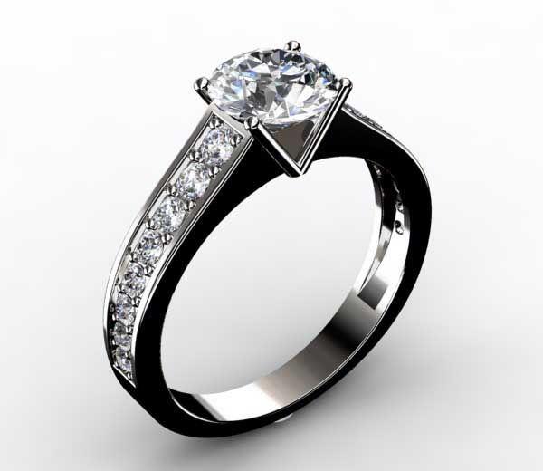 bague de fiancaille or blanc diamant pas cher. Black Bedroom Furniture Sets. Home Design Ideas
