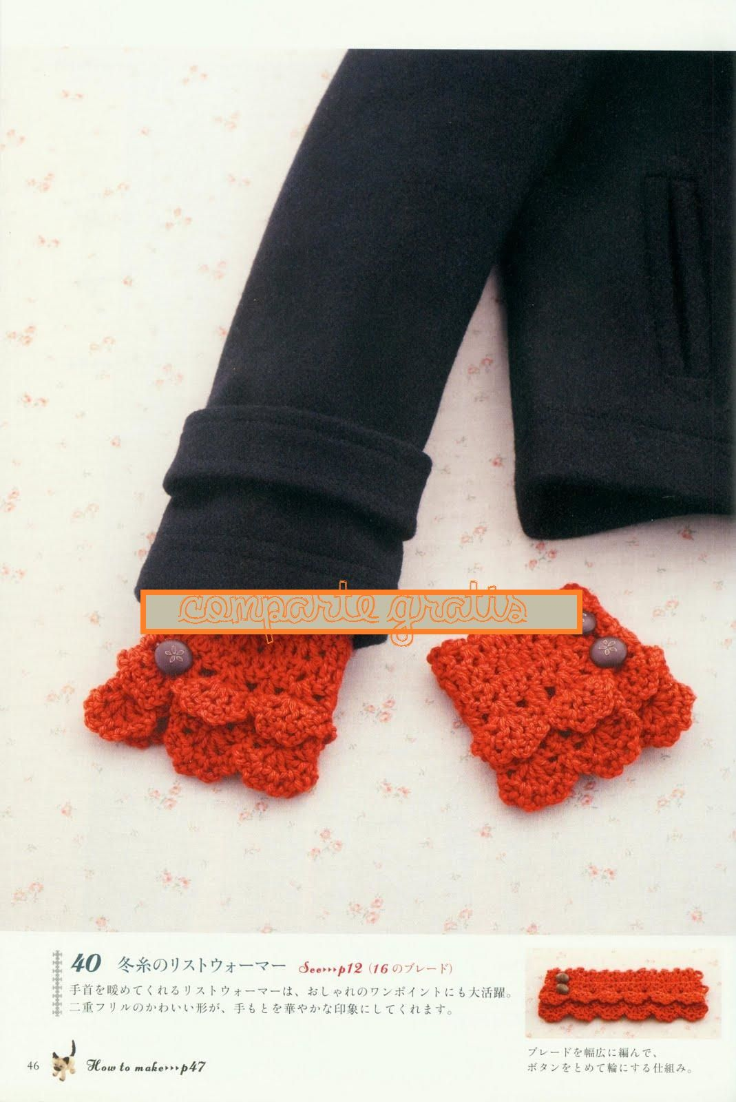Puños de Quita y Pon de Crochet Patron - Patrones Crochet ...