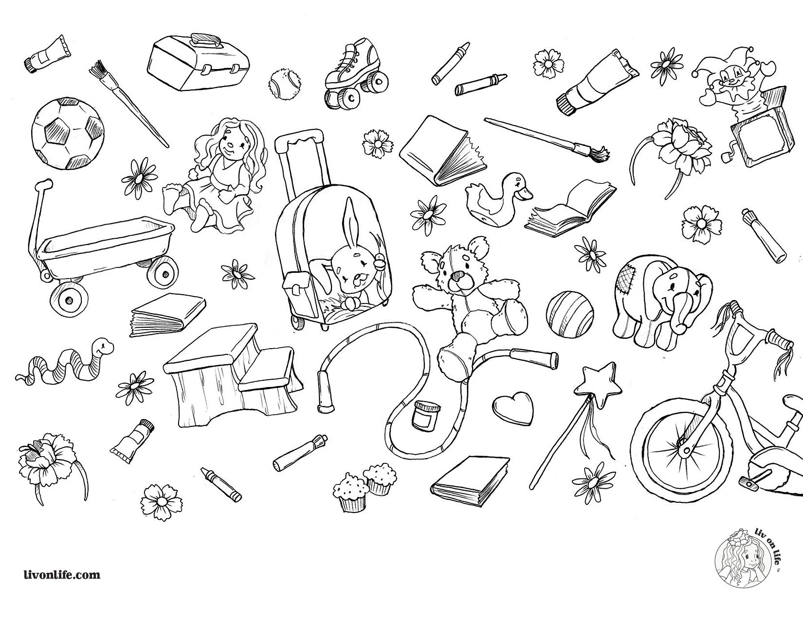 Color My Favorite Things Livonlife Coloringpage Coloring Pages Color Me Color