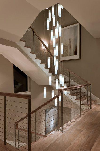 Stairwell Chandelier Dle Destek Com In 2020 Stairway Lighting