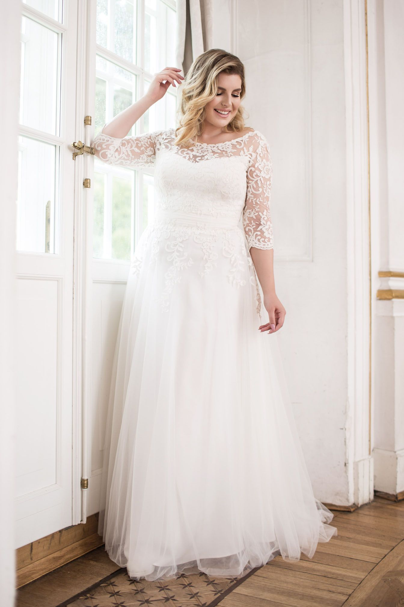 Plus size wedding dress - lovely collection by mode de pol ...