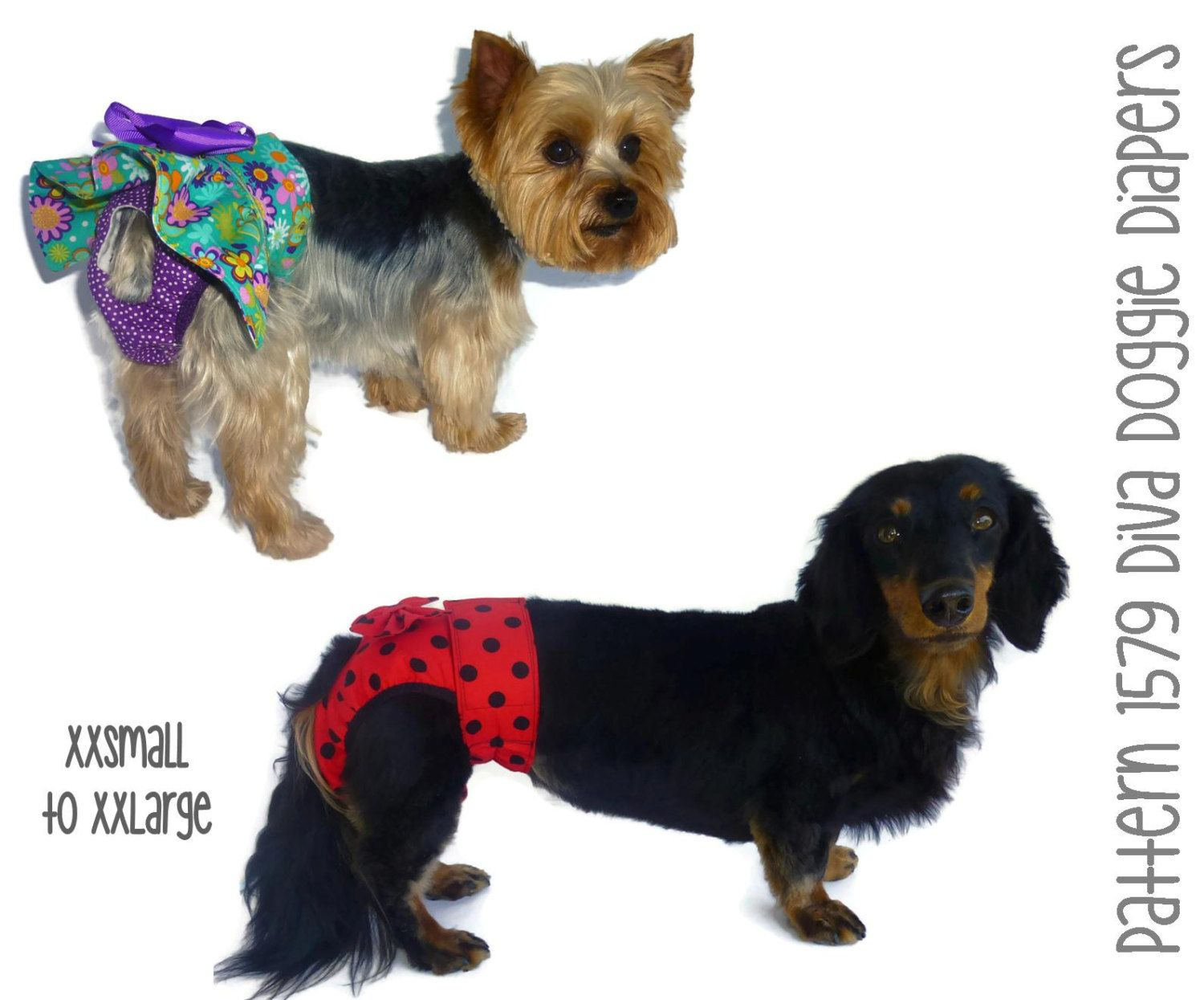 Dog Diaper Pattern 1579 Dog Diapers Doggie Diapers Female Dog
