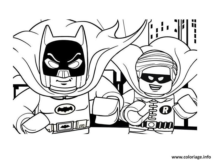 Coloriage DC Comics Super Heroes LEGO batman movie 2017