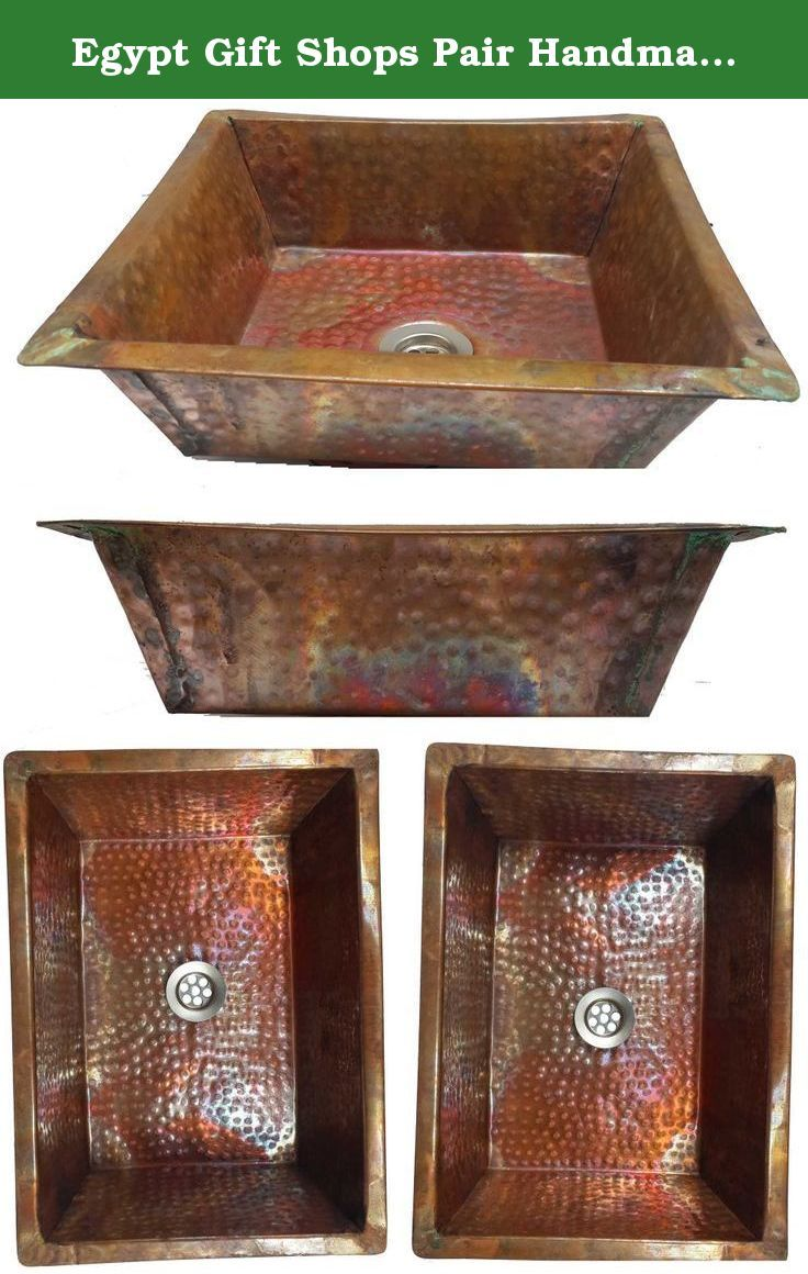 Bathroom Sinks Egypt egypt gift shops pair handmade rectangle fire burnt copper