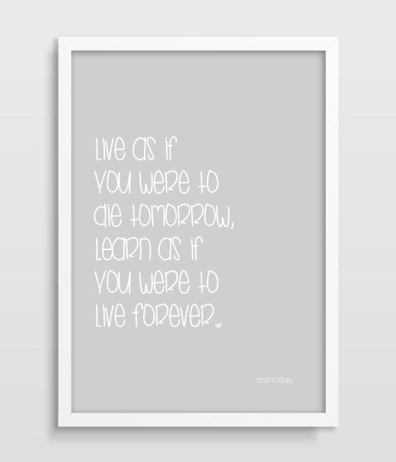 Typografische Print - Zitat Poster - Inspirierende Quote - Mahatma
