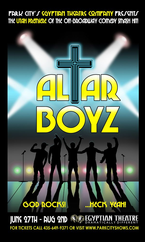 Altar Boyz. Egyptian Theatre Company. Design by Shawn Fisher.