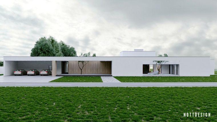 Maison toit plat moderne qui défie la gravité par NOTT
