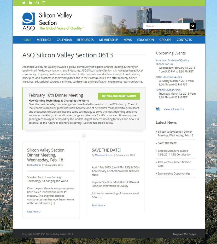 ASQ Silicon Valley Section 0613 Frogtown's North
