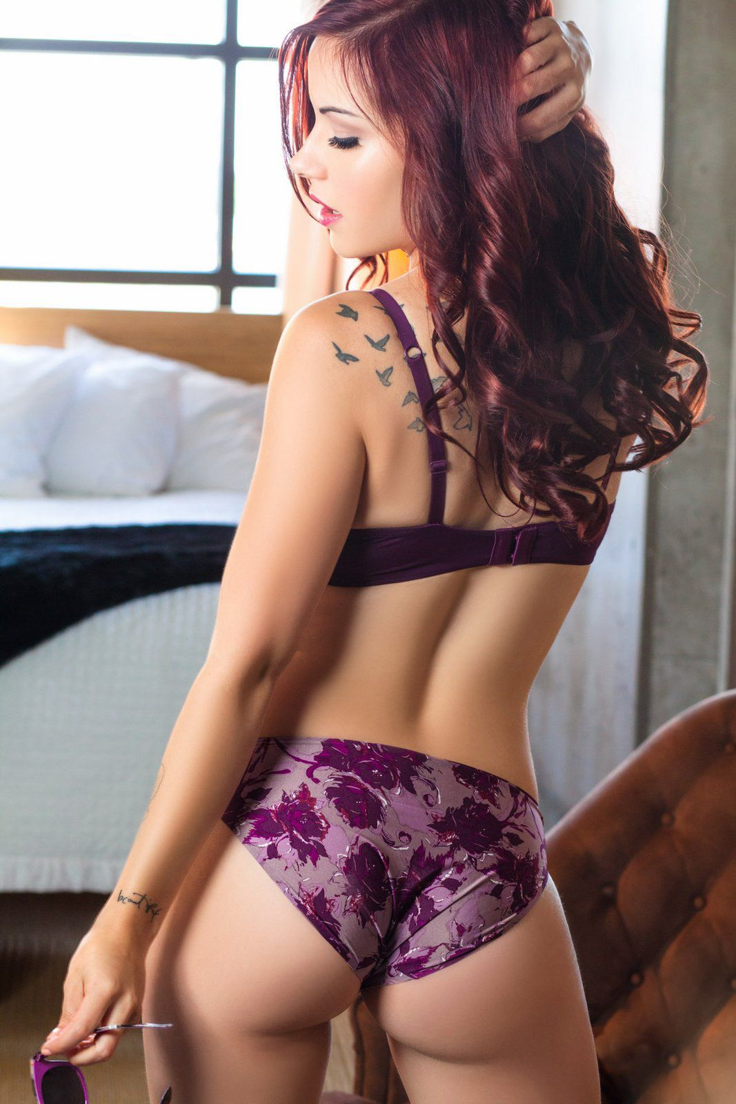 And hot lingerie ass Purple