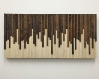 Wood Wall Art Large, Wall Art, Rustic Wood Art, Wo
