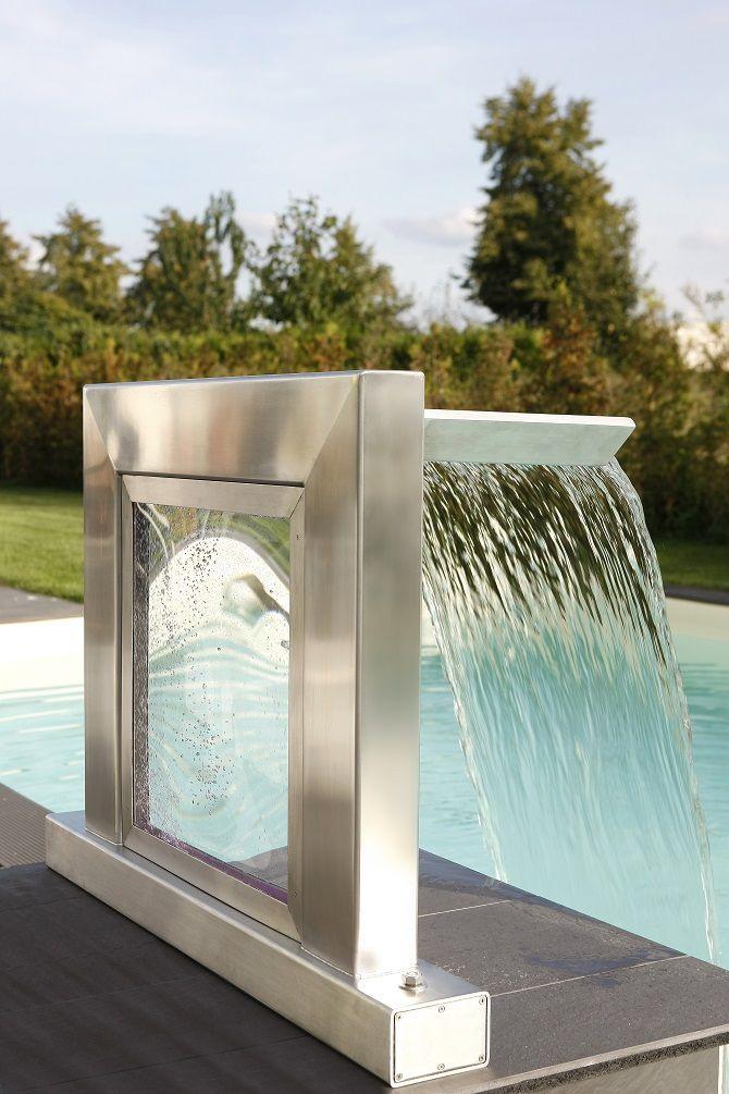Der Wasserfall in Ihrem Garten #Schwimmbad wwwbsw-webde pools