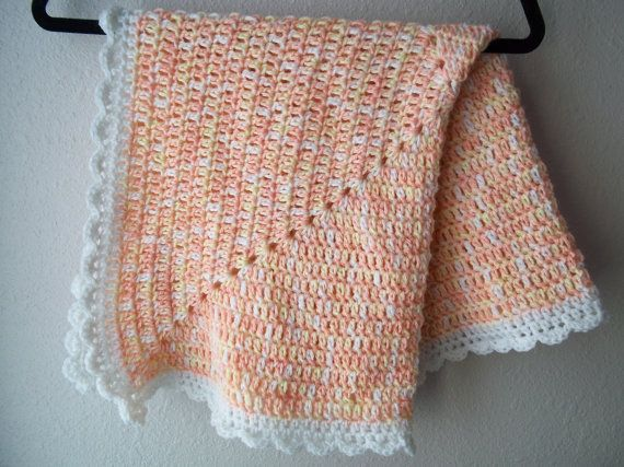 crocheted travel stroller blanket for baby by LittleDillyDesigns