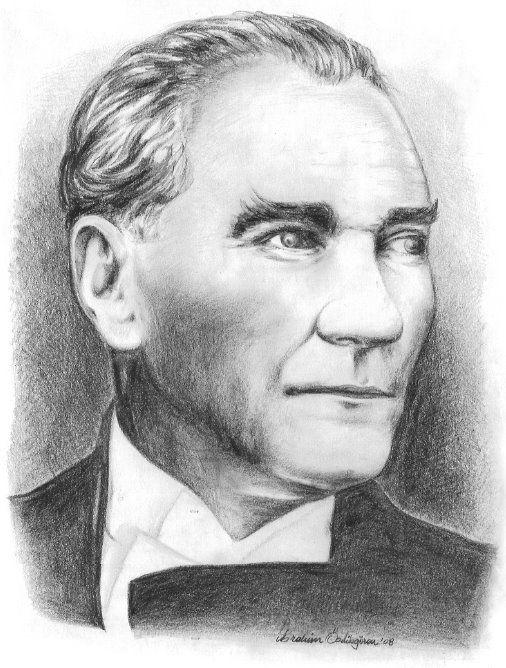 Mustafa Kemal Ataturk Kara Kalem Calismalari Portre Kara Kalem Portre Resim