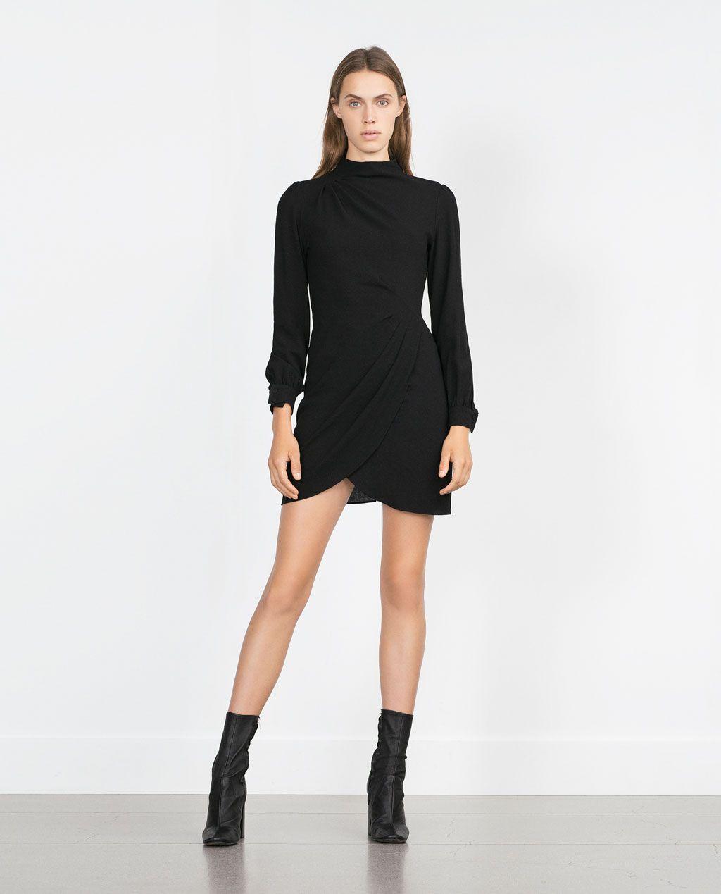 Black dress woman - Long Sleeve Dress Nyzara Woman Zara United States