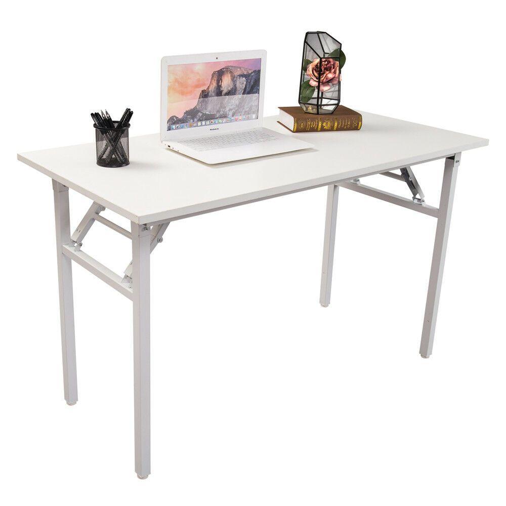 Halter Folding Computer Desk Writing Study Table 55 White Affilink Desk Desksetup Deskorganizati Folding Computer Desk Home Office Desks Computer Desk