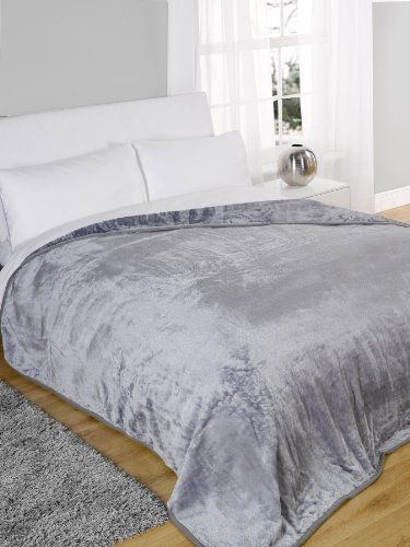 Top Qulaity X Large Silver Faux Fur Mink Throw 3 Seater Sofa Blanket Bed 240x200cm Very Soft Warm Dreamscene