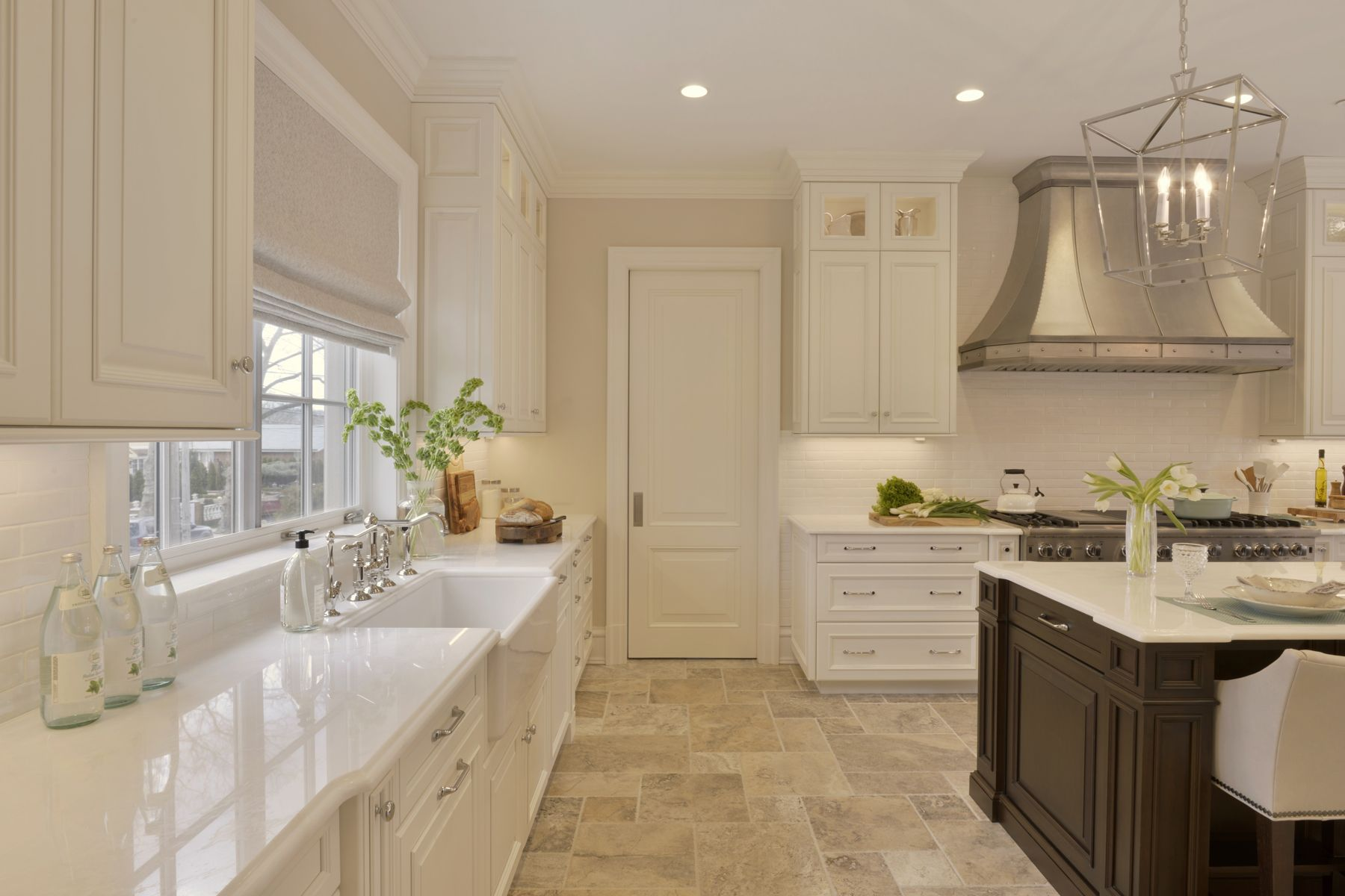 This Expansive Kitchen Features Rutt Handcrafted Cabinetry In A Mix Of  White Painted And Cherry Cabinetry